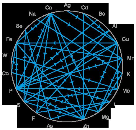 Współzależność minerałów ipierwiastków